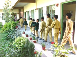 Children Going to their Classrooms