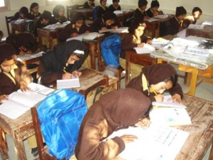 Students busy in their class work