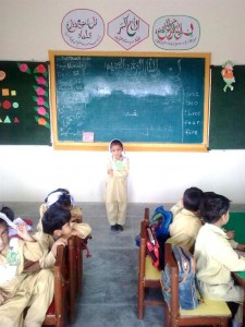 Student Performing Dua in Classroom