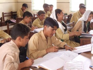 A secondary classroom
