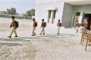Students going back home