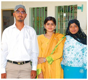 Nadeem Hussain and his sisters Uzma Salim & Sidra Salim matriculated from this school.