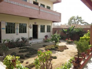 Well maintained courtyard
