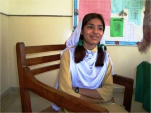 Saba Habib is a bright student of grade VI. She aims to be a teacher.