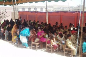 Lots of mothers from the neighborhood turned up to celebrate their children's Result Day ceremony held at the campus on April 1, 2011