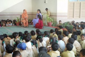 A stage act presented by the students on Result day 2011.