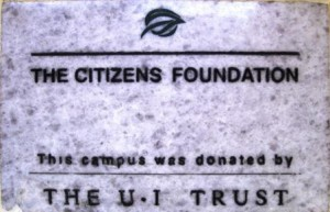 Every TCF school carries a donor plaque to honour the donors of the campus