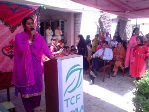A colorful ceremony was held at the school on April 1, 2011 to mark annual Result Day. TCF Area Manager can also be seen in this photograph as one of the guests who attended the function.