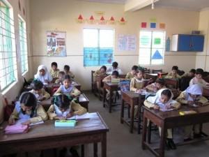 A busy classroom