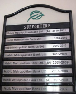 Supporters board in the Princiapl's room