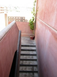 Staircase leading to the secondary section of INFAQ Foundation Campus