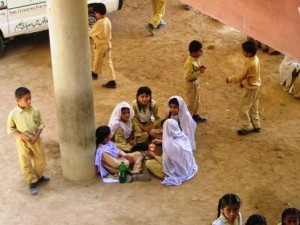 Students having their lunch