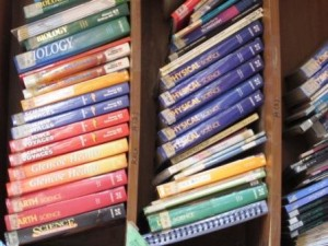 A glance at the books in the campus library