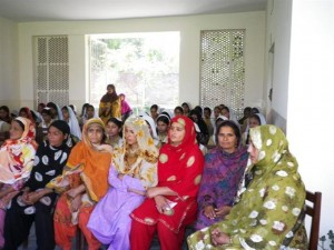 Mothers from the local community gathered to attend the ceremony held in the school to mark Annual Result Day on April 01, 2011.