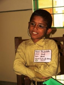 Osama Abdullah is a grade II student at TCF Primary school-Al Karam Campus.