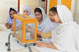 Students Performing Lab Practical