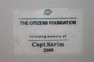 Each Campus has One Such Plaque to Honor its Donor