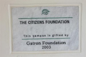 Our Every Campus has One such Plaque to Honor its Donor