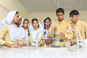 Student Doing Practical in Lab