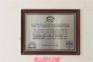Plaque Placed In Gratitude to our Donors
