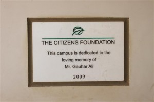 Each Campus has a Plaque in Gratitude of our Donors