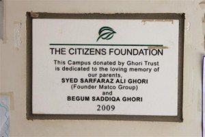 A Plaque is Placed in the Campus in Gratitude of our Donor