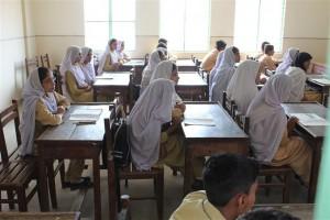 An Inside View of Sun Lit Class Room