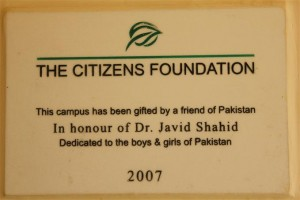 Plaque In Gratitude of Our Donor