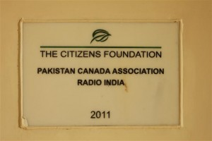 Plaque Placed in the Campus in Gratitude towards our Donor