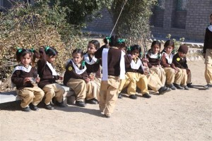 Students Sitting in the Play Area