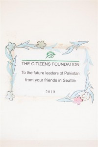 Message from Our Donors to the Student of TCF School