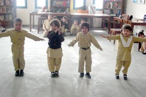 Pre-Primary Students Acting out while they Recite a Poem