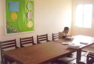 The Sun lit Staffroom