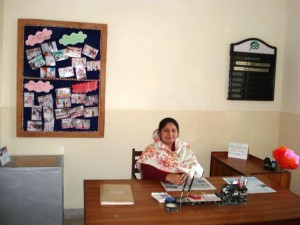 Principal in her Office