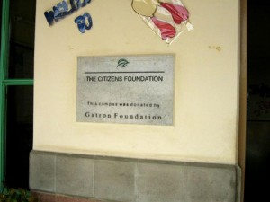 Every TCF Campus Carries such a Plaque to Honor Donors.