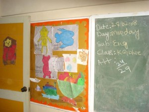 Beautiful Artwork by Students Brighten up the Classroom