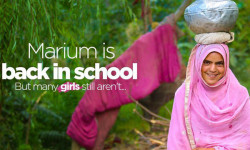 Marium is back in school! But many girls still aren't…