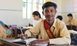 Rasool Baksh is back in school, thanks to YOU!
