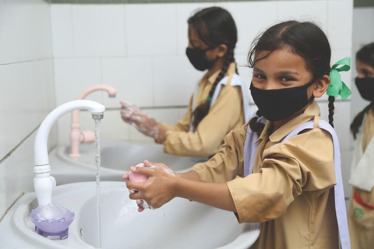 Pupils follow strict hygiene guidelines