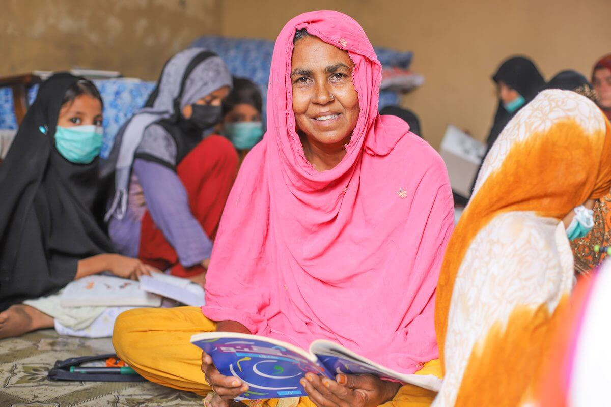 TCF's Aagahi Adult Literacy Program has taught 150,000 women how to read and write